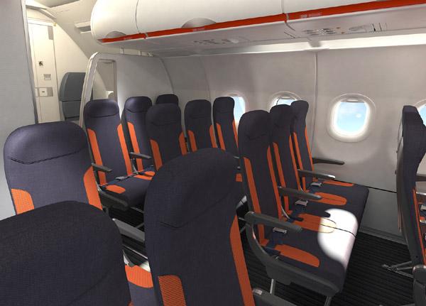Easyjet Bespaart Door Lichtgewicht Interieur In A320