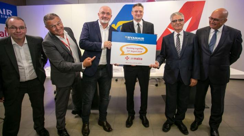 Samenwerking Air Malta Ryanair