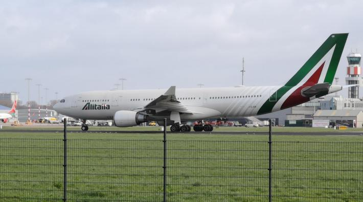 Alitalia A330 Rotterdam The Hague Airport