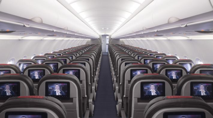American Airlines cabine