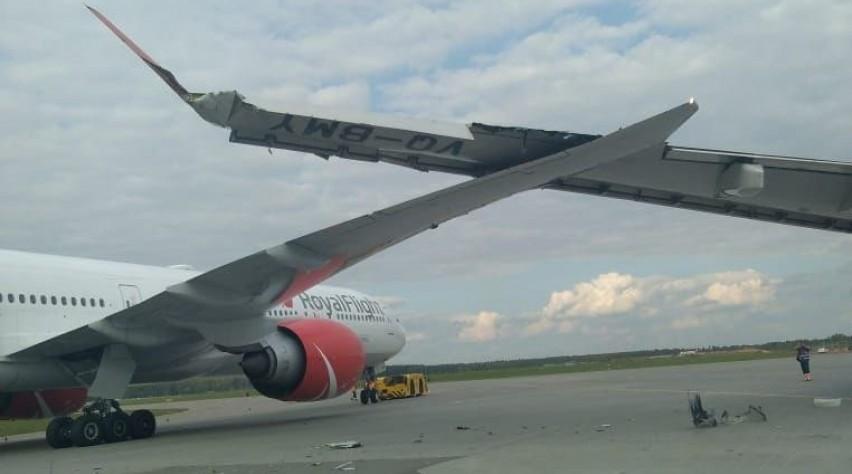 Botsing Boeing 777 Airbus A330 Moskou