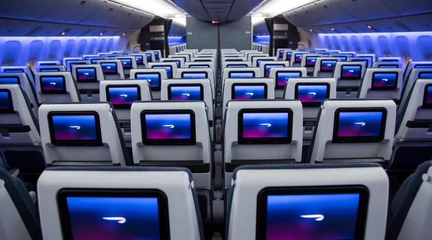 British Airways economy 777