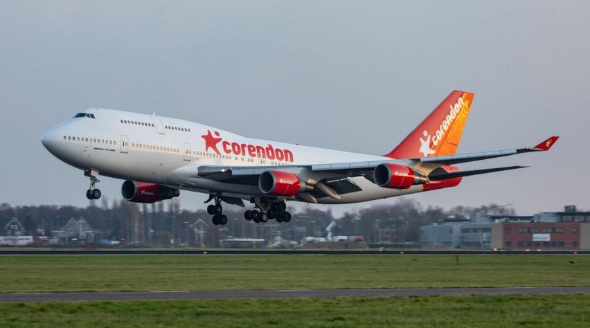 Corendon Boeing 747 op Schiphol