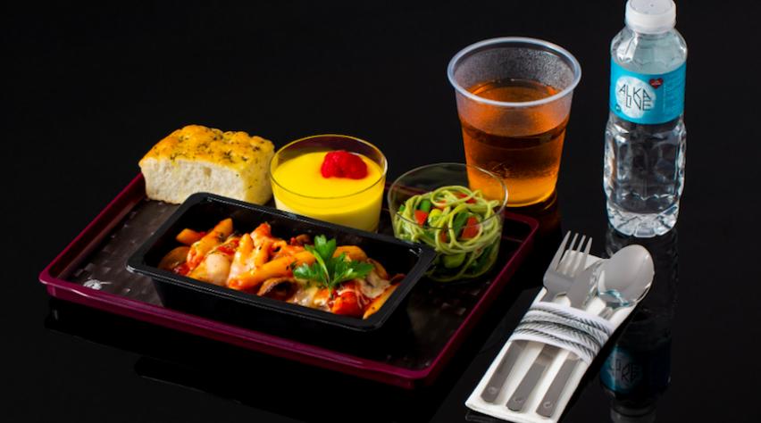 Qatar Airways Economy-maaltijd