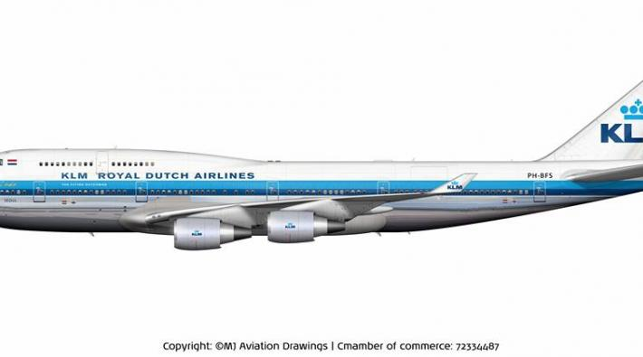 KLM 747 retrolivery