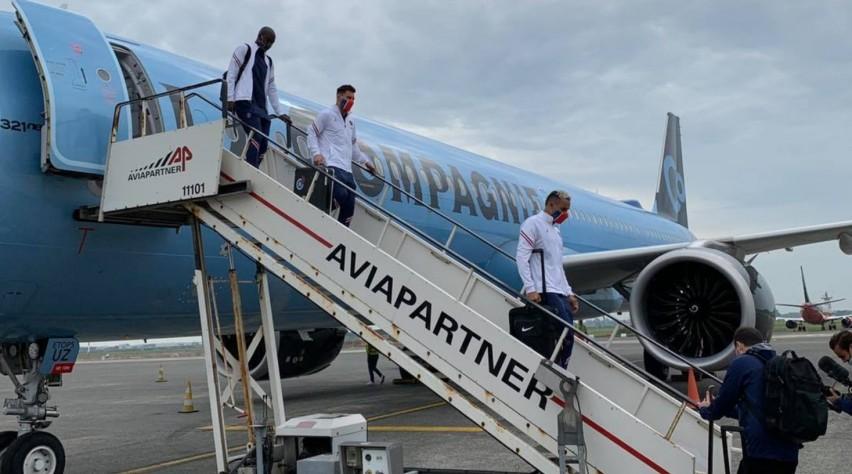 PSG aankomst Oostende