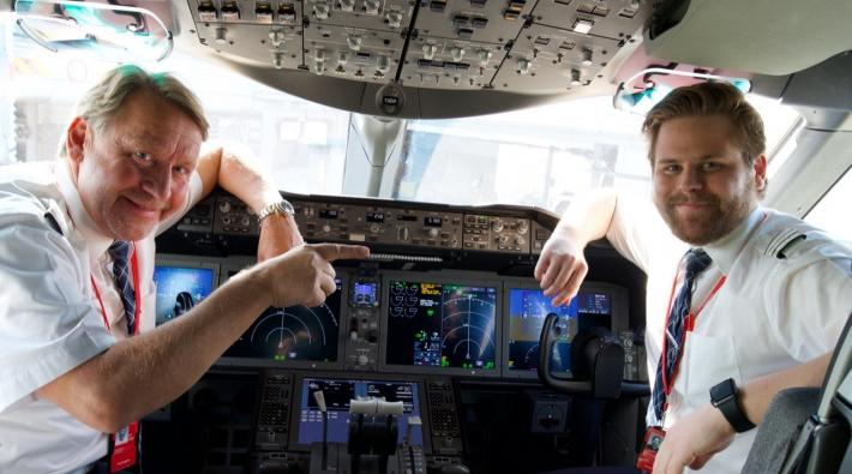 Norwegian-piloten Erik en Sven