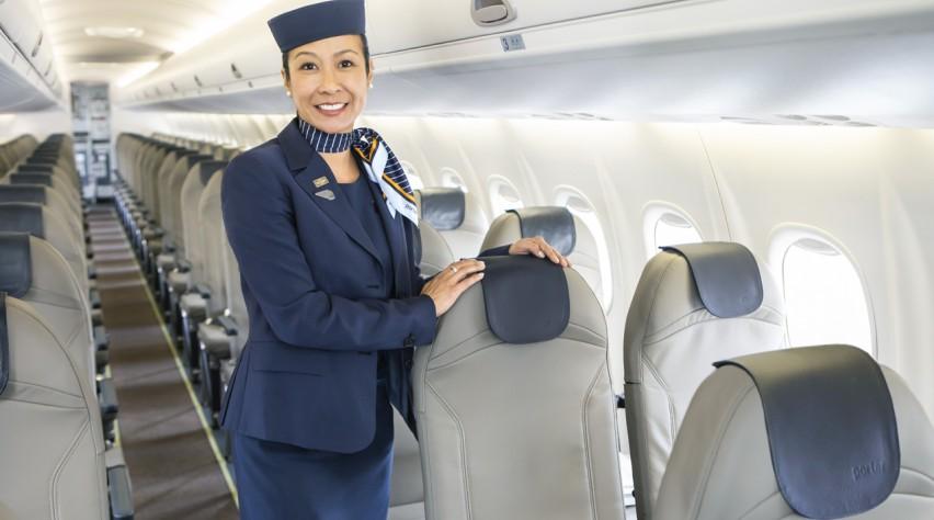 Porter Airlines Q300 cabine