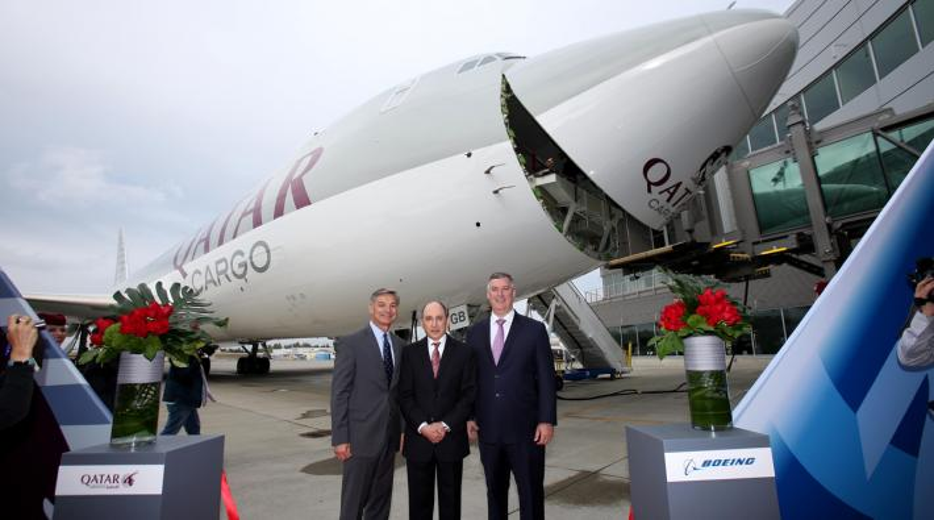 Qatar Airways 747