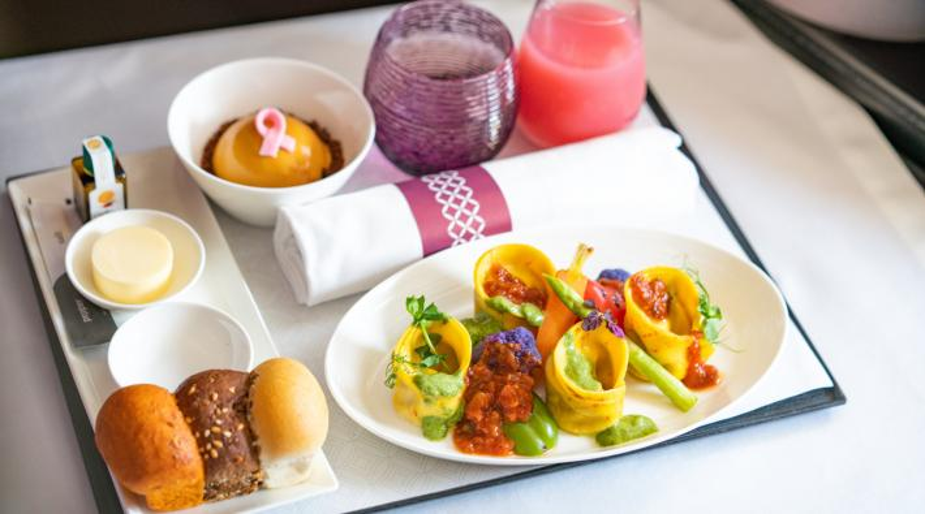 Qatar Airways vegan