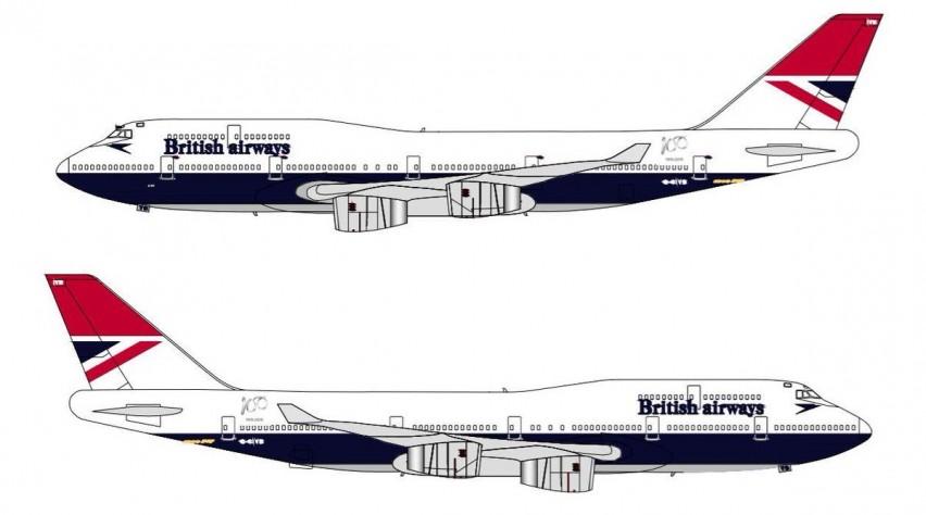 British Airways retro negus