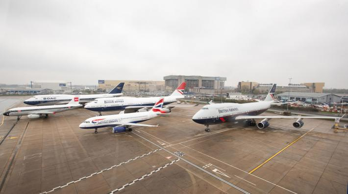 British Airways retrojets