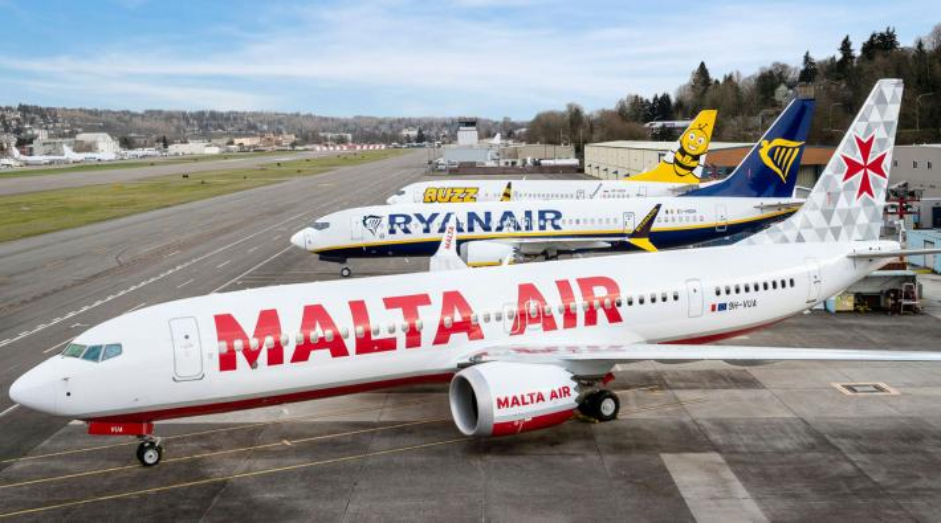 Ryanair Malta Air 737 MAX