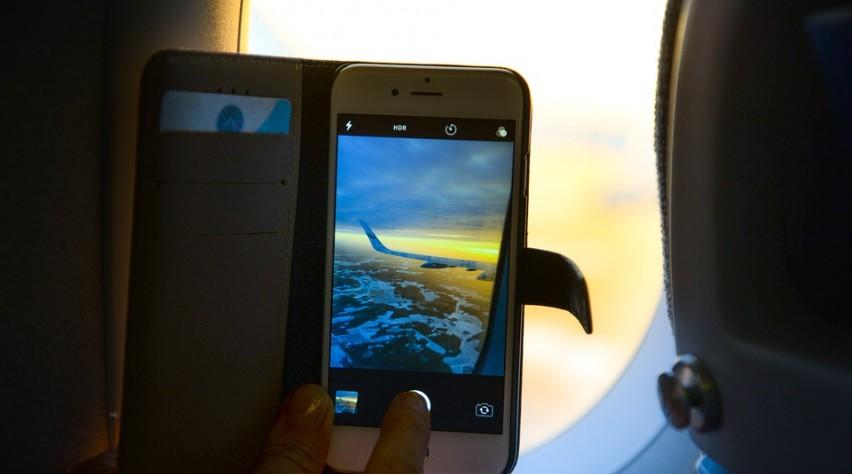 Telefoon filmpje vliegtuig