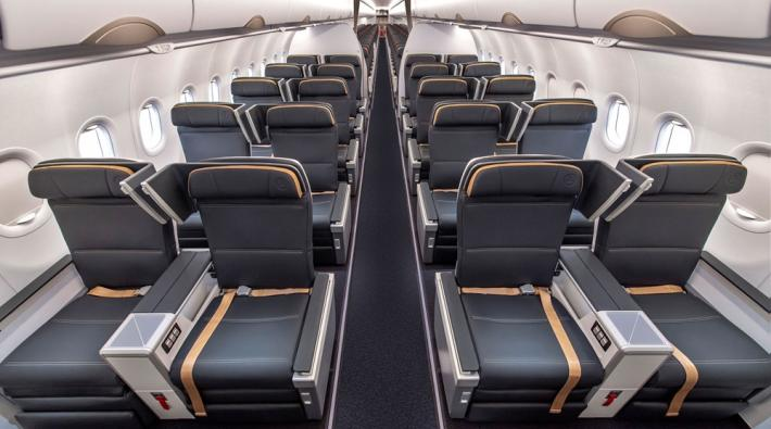 Turkish Airlines Business Class-stoelen in 737 MAX en A321neo