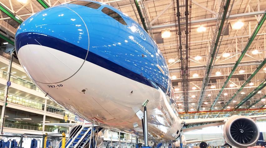 KLM 787 fabriek