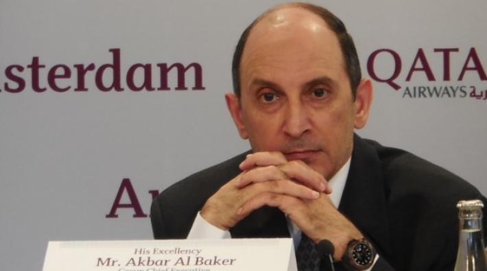 al baker, qatar airways, amsterdam