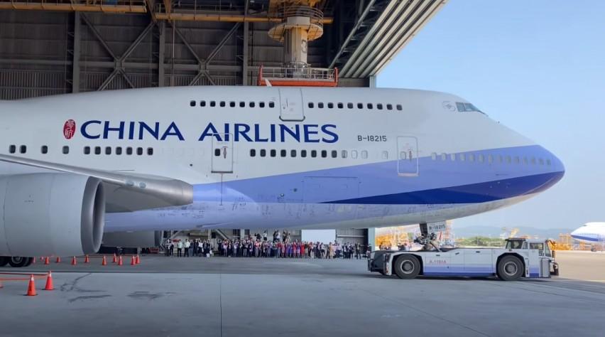 Afscheid China Airlines 747