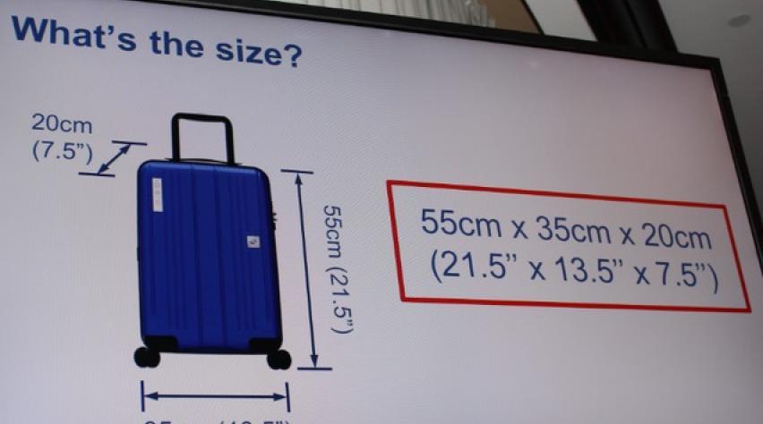 handbagage klm maten