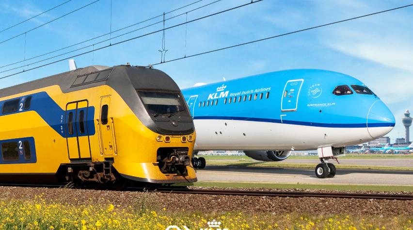 Trein Vliegtuig Schiphol