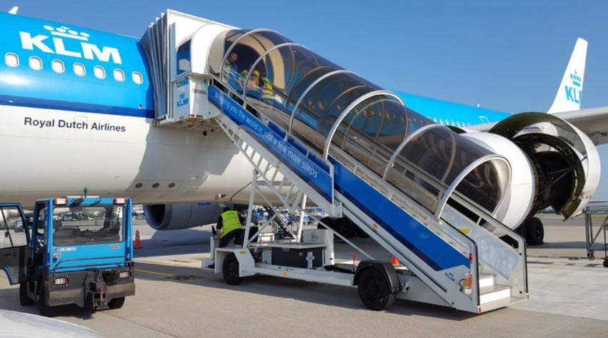 KLM vliegtuigbrug