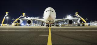 Airbus A380 Schiphol