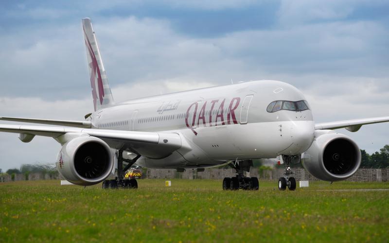 Qatar Airways Airbus A350 Dublin Airport