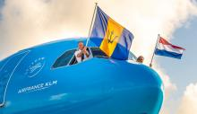 KLM eerste vlucht Barbados Trinidad
