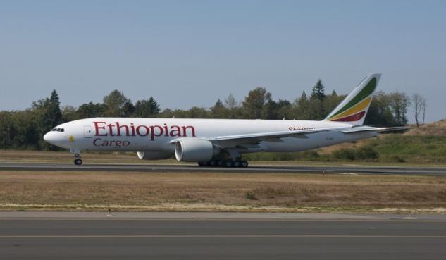 ethiopian airlines, cargo, boeing 777