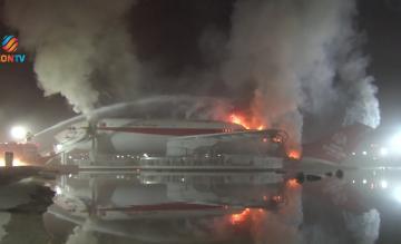 Brandende Airbus A300 in Konya