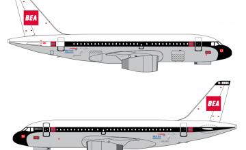 British Airways A319 retro