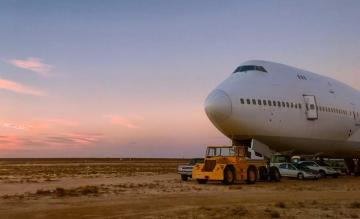 Boeing 747 Burning Man