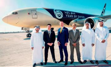 Etihad 777F Year of Zayed