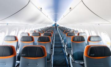 JetBlue A220 cabine