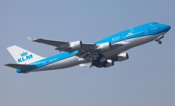 KLM 747 start