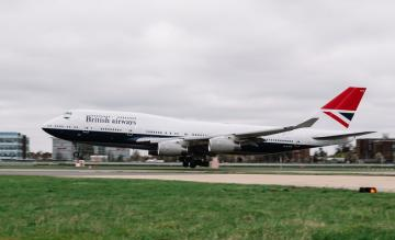 BA retro 747