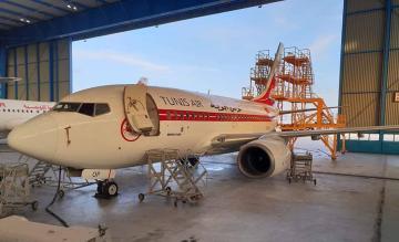 Tunisair retro 737