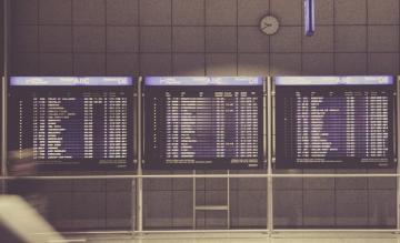 informatie, airport, monitor