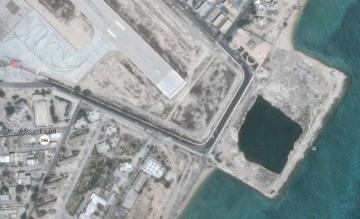 khark airport, google maps