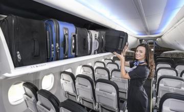 boeing, space bins, bagagevakken