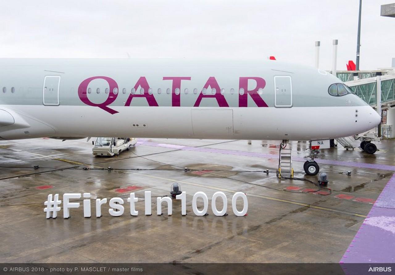 Qatar Airways A350-1000 ontvangst
