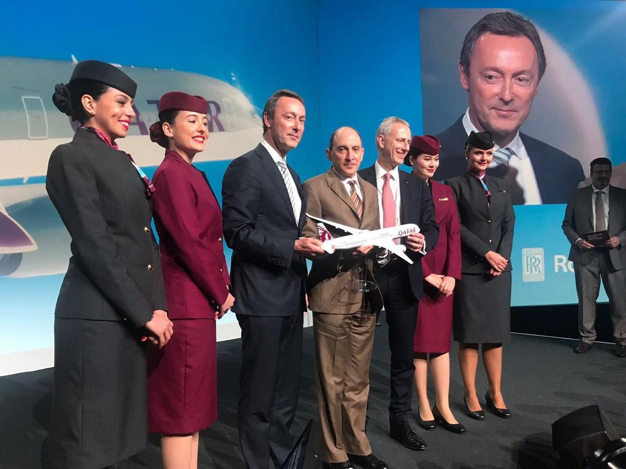 Qatar Airways Airbus A350-1000 ontvangst