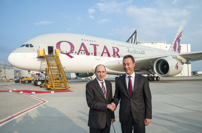 Qatar Airways Airbus A380 Akbar Al baker