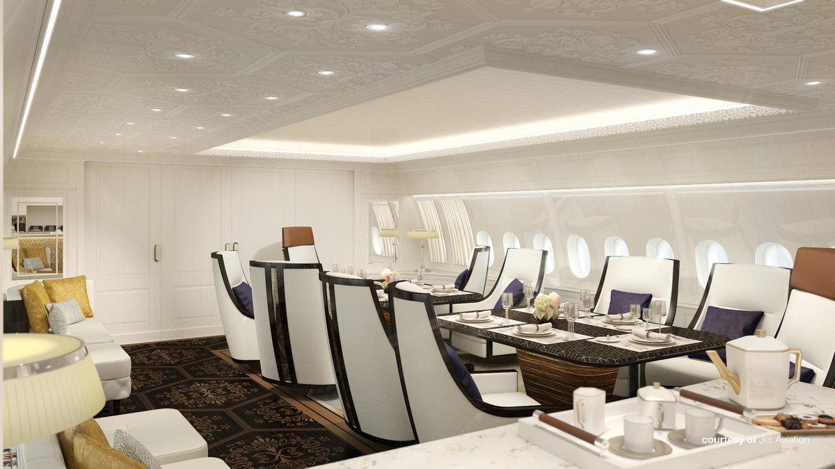BBJ 777X vergaderzaal