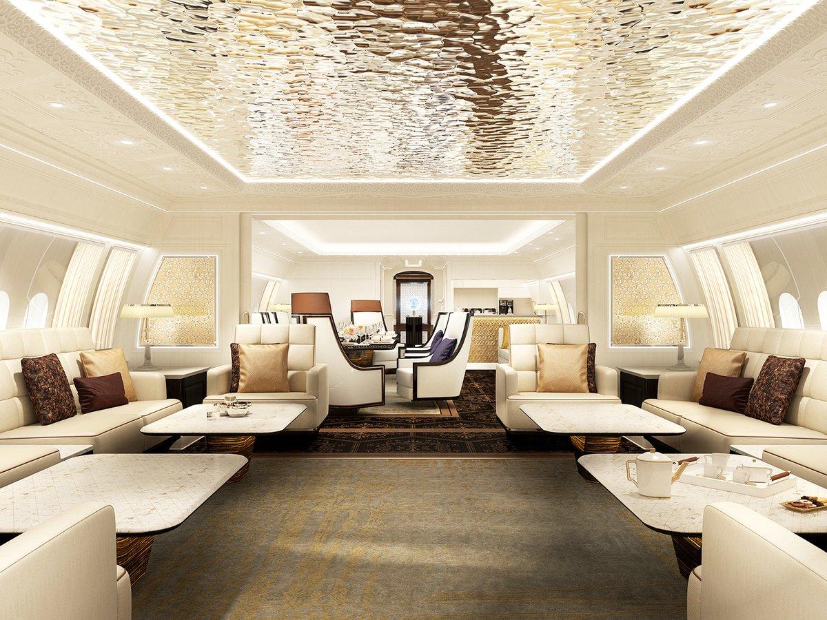 BBJ 777X woonkamer
