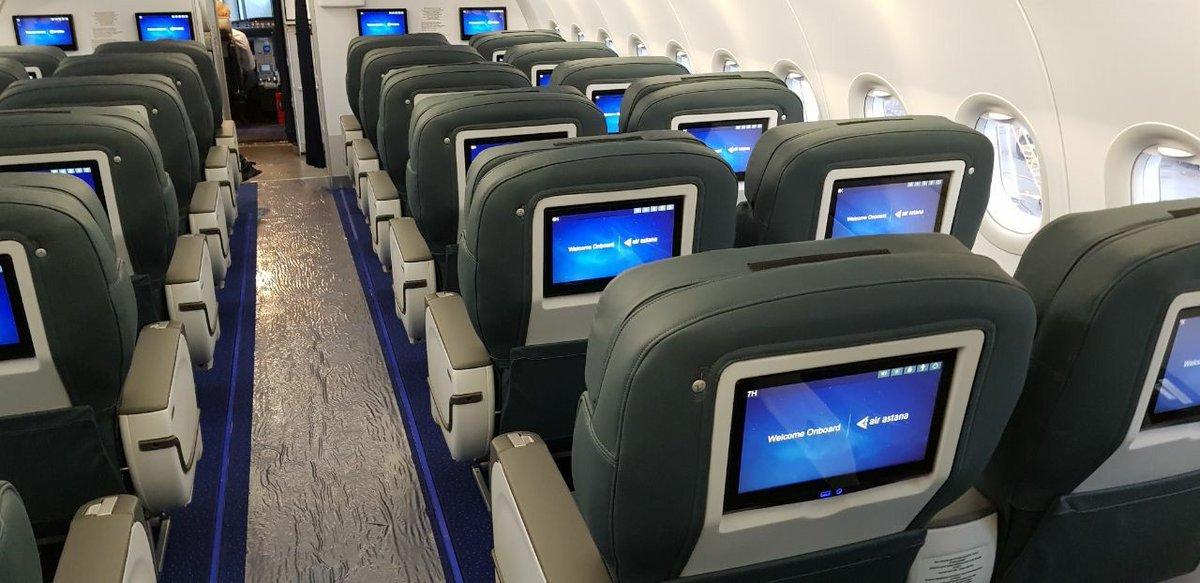 Air Astana A321neo cabin