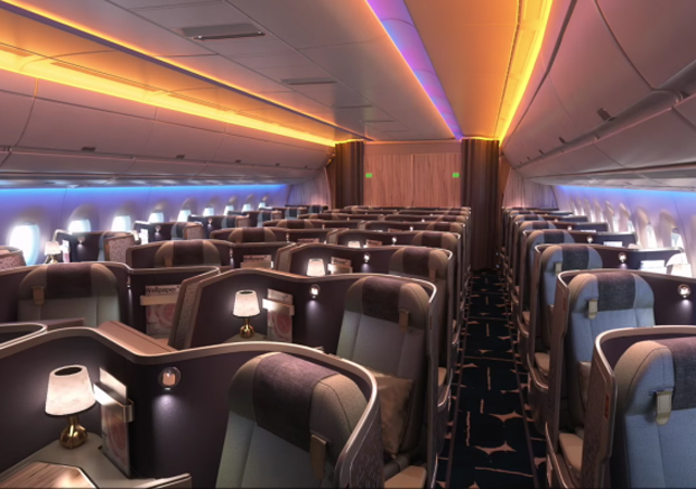 China airlines onthult interieur a350 luchtvaartnieuws for Interieur boeing 777