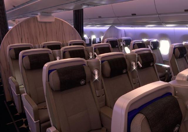 China airlines onthult interieur a350 luchtvaartnieuws for Interieur qatar airways