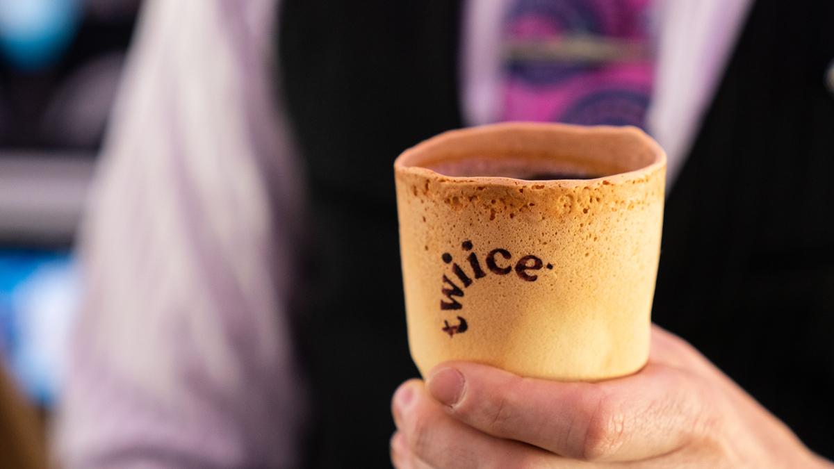 Eetbaar kopje koffie