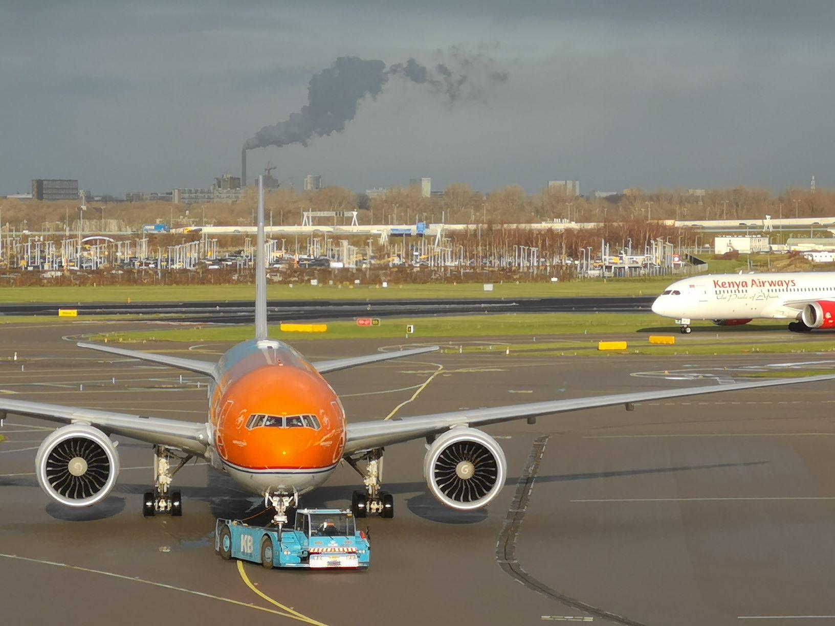 Nieuwe KLM Crown Lounge uitzicht